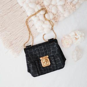 Chloe Elsie Shoulder/Crossbody Bag—Noir